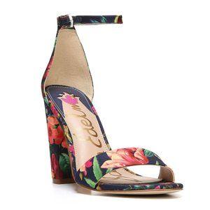 Sam Edelman Yaro Block Heel Sandal Navy Floral - 6